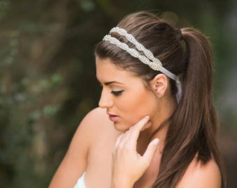 Rhinestones Double Headband 50a007779f3