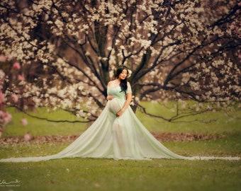 f9af87c218b Sheer maternity gown