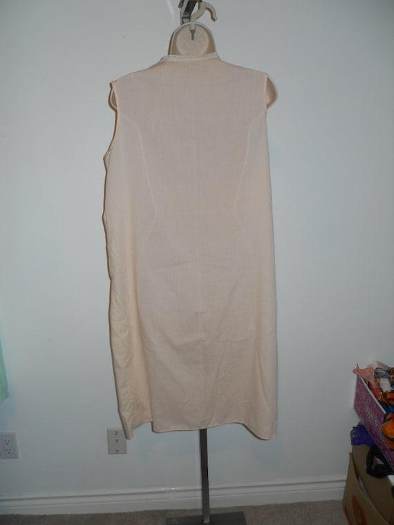 Vintage Apricot Cotton Nightgown ~ 1970's Light C… - image 5