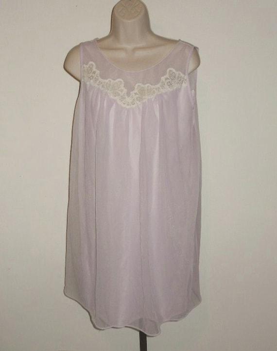 Vintage Lilac Chiffon Nightgown ~ 1960's Lov Lee … - image 1