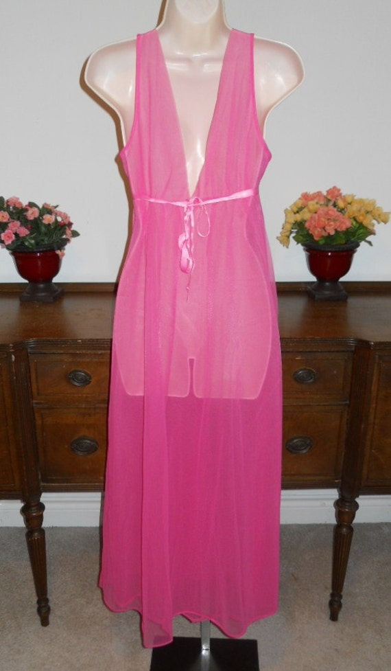 Vintage  ARISTOCRAFT Fancy Pink Nightgown ~ 1950'… - image 5