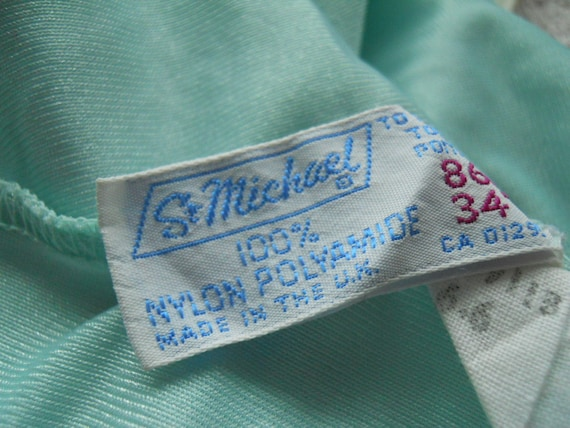 Vintage Mint Green Nightgown  ~ 1970's St Michael… - image 5