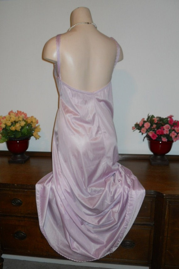 Vintage Lilac Nightgown ~ 1980's Long Nightgown ~… - image 5