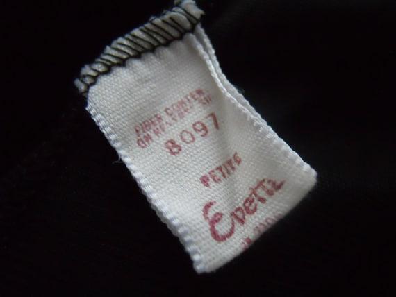 Vintage 1950's Evette Black Peignoir Negligee   ~… - image 8