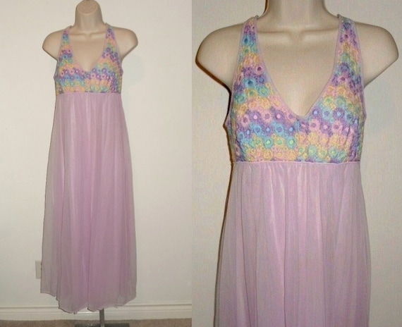 Rare Vintage 1950's Fancy Nightgown ~ Lilac French