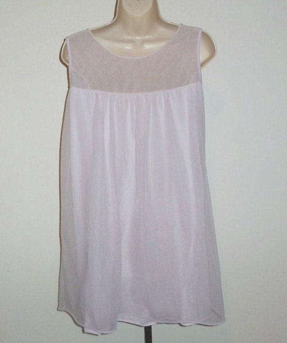 Vintage Lilac Chiffon Nightgown ~ 1960's Lov Lee … - image 5