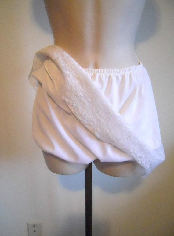 RARE Vintage White Slip Panties ~ 1970's Mini Slip