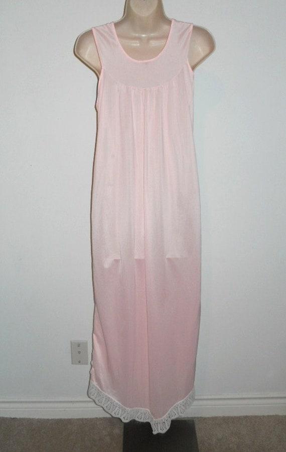 Vintage Long Pink Nightgown ~ Elegant 1980's Silk… - image 6