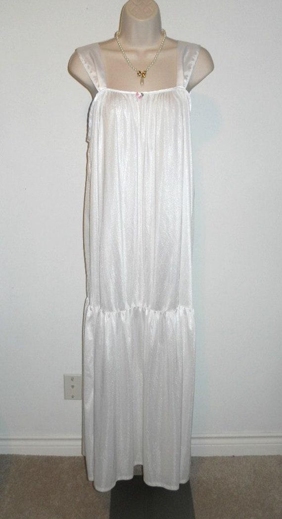 Vintage Avon Bridal White Long Nightgown ~ 1980's