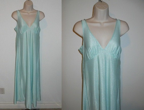 Vintage Mint Green Nightgown  ~ 1970's St Michael… - image 1