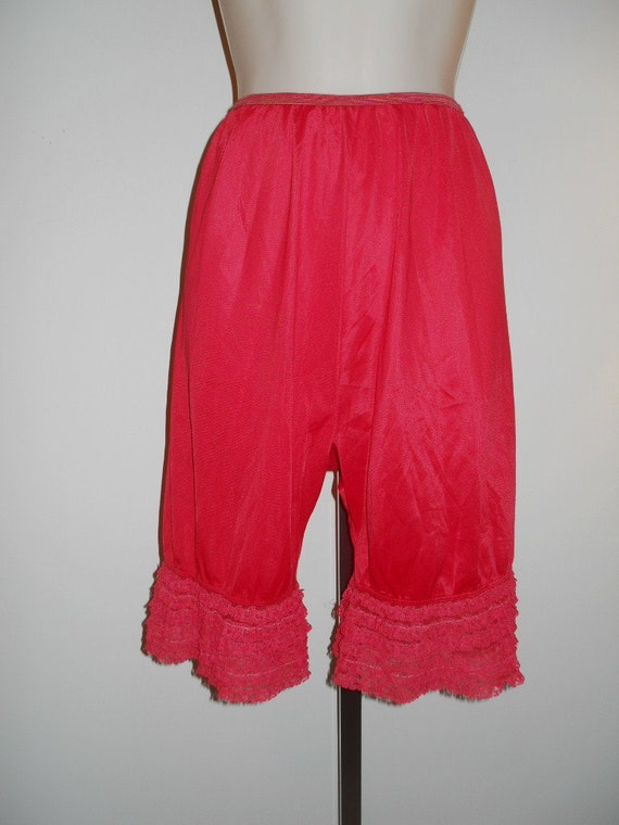 Vintage Red Pettipants Bloomers  Knickers ~ 1950's