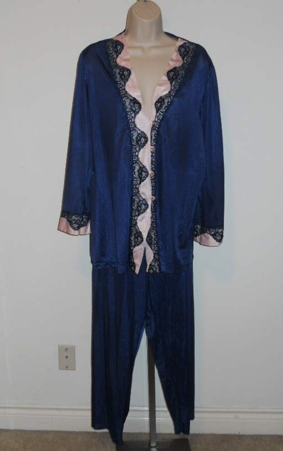 Vintage Blue  Lounge Pyjamas ~ Vintage Pajamas Paj