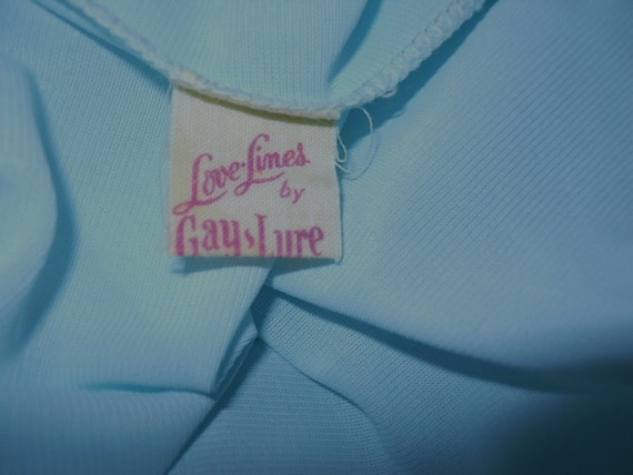 Vintage Baby Blue Nightgown ~ 1960's Love Lines b… - image 5