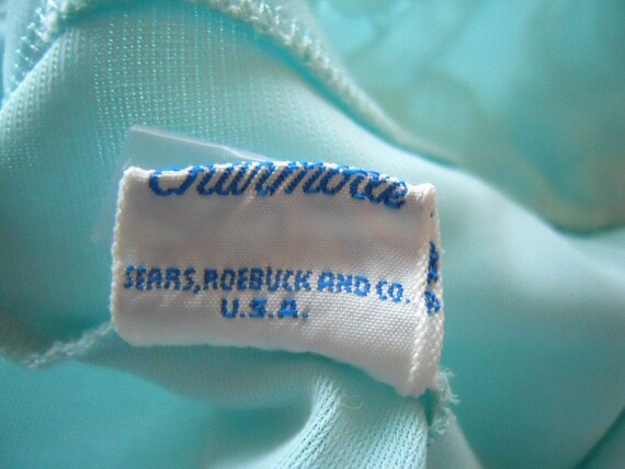 Vintage Blue Grecian Style Nightgown ~  1950's Ch… - image 5