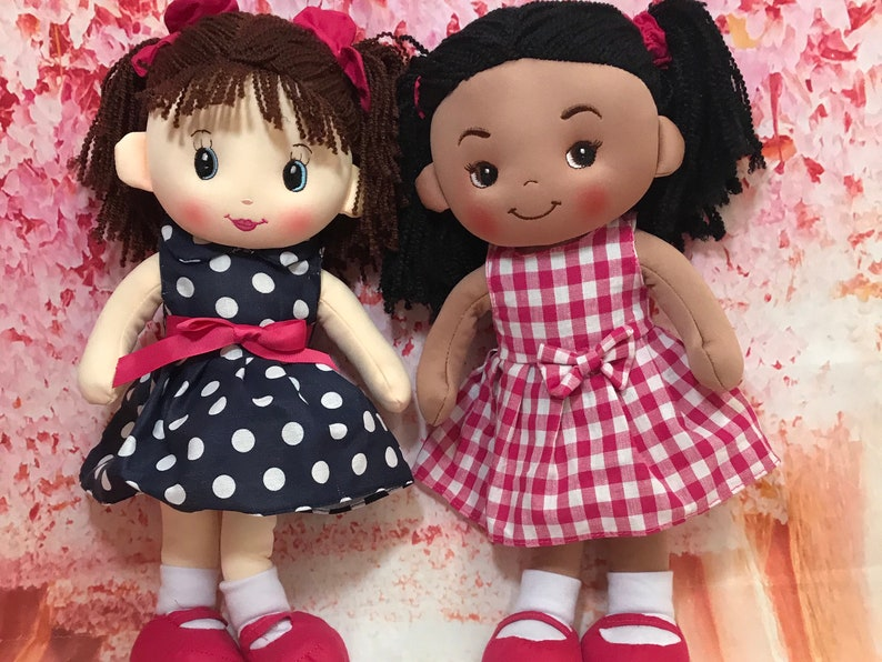 Personalized Doll. First Birthday for Girl. Plush Doll. Soft image 0