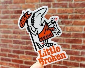 Little Broken jiu jitsu - Stickers Jiu jitsu - BJJ - mma - judo - grappling  - bjj gift - jiujitsu sticker -