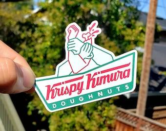 Stickers / Jiu jitsu - BJJ - mma - judo - original design - 100 available - Krispy Kimura