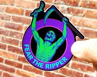 Glitch design Fear The Reaper - Stickers Jiu jitsu - BJJ - mma - judo - grappling  - bjj gift - jiujitsu sticker -