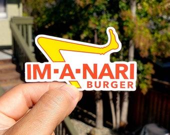 Stickers / Jiu jitsu - BJJ - mma - judo - original design - 100 available - Im-A-Nari burger - parody sticker