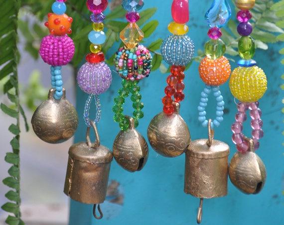 Boho bell Ornaments decoration-set of 6