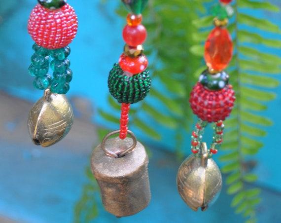Christmas Tree Boho Bell Ornaments decoration-set of 6
