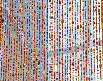 Door Beaded Curtains, Door Bead, Door Curtain, Door Bead Curtain,String  Curtain, Bead Curtain, Hanging Door Beads,Room Divider,Room Screen