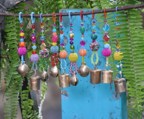 Xmas Tree Boho Bell Ornaments decoration-set of 6