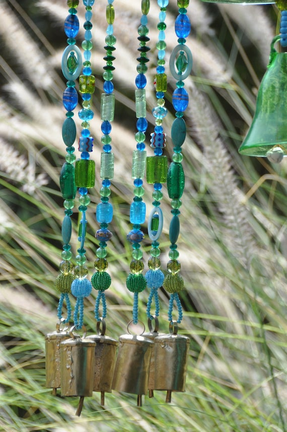Mini Glass Wind Chime Vento campana con dipinto a mano i modelli in stile