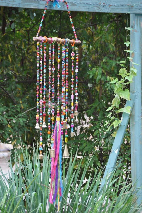 Glass Bead & Driftwood Mobile Suncatcher