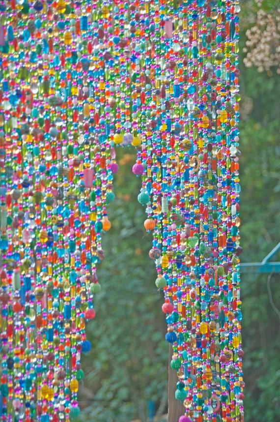 Rideau perlé suspendre perles de porte Rideau Bohème Boho | Etsy