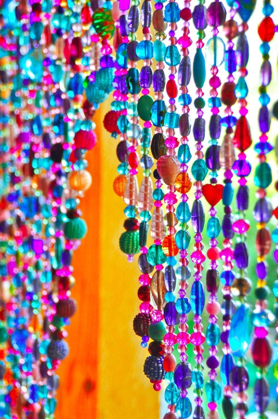 Colorful Hand made Beaded Curtain Arch Shape (made to order)
