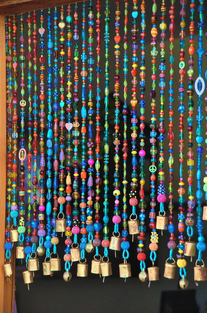 Incroyable Beaded Curtain Bead Curtain  Bohemian Curtain Window Curtain Beaded Door  Curtain Hanging Door Beads Beaded Wall Hanging Bohemian Wall Art