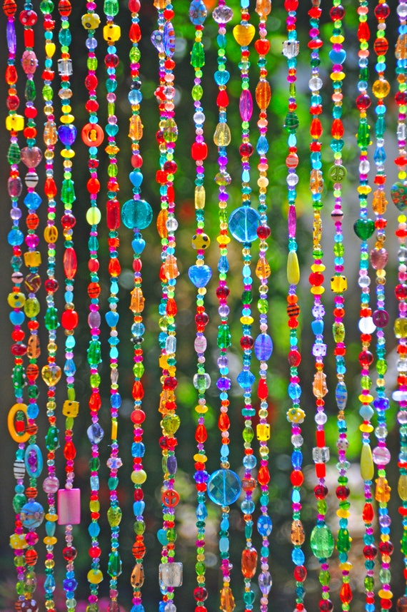 Colorful Bohemian Beaded valance   (Made to Order)