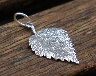 Leaf Pendant, Silver Leaf Pendant, Sterling Silver Pendant, Nature Pendant, Woodland Pendant, Leaf Jewelry, Leaf Necklace, Birthday Gift