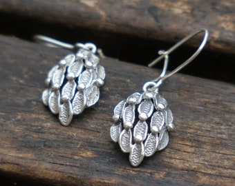 Silver Earrings, Silver Dangle Earrings, Everyday Sterling Silver Earrings, Nature Earrings, Silver Jewelry, Nature Jewelry, Birthday Gift