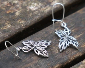 Silver Earrings - Sterling Silver Earrings - Silver Dangle Earrings - Dangle Earrings - Nature Earrings - Everyday Earrings - Silver Jewelry