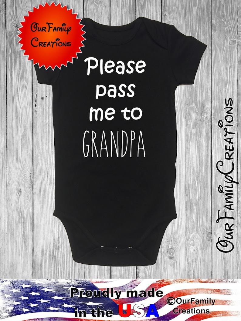 Grandpa funny please pass meonesie gerber bodysuit baby