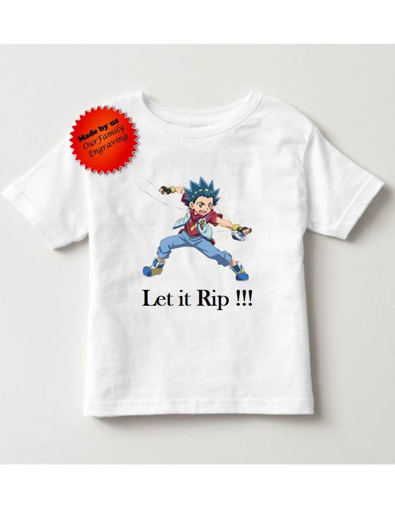 b7c0874b2ba53 Beyblade Valt Vault let it rip tshirt shirt Toddler and boys sizes 2t 3t 4t  5t small medium large xl
