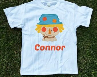personalized scarecrow shirt, Boys Fall Shirt, Fall themed shirt, Boy scarecrow shirt, Halloween shirt, Thanksgiving shirt