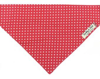 Reversible Denim /& Red Spot Dog Bandana