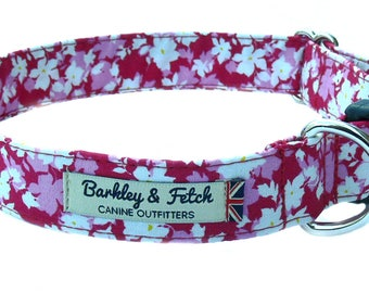 Pink Flowers Dog Collar