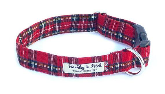 Tartan Check Dog Collar