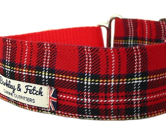 "Martingale Collar in Royal Stewart Tartan 1"", 1.5"" and 2"""