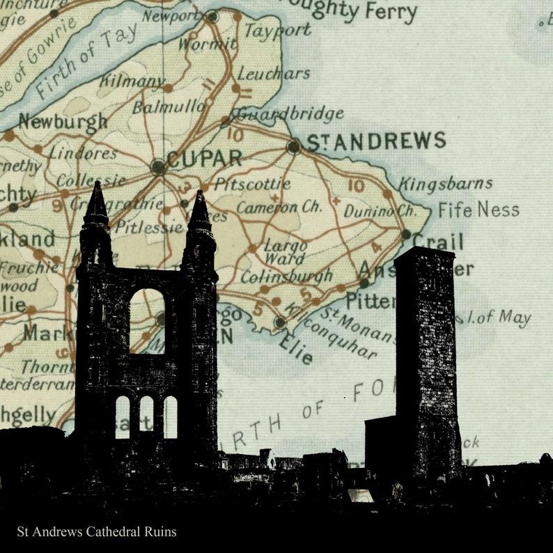 St Andrews Print Cathedral Ruins print St Andrews Art image 0