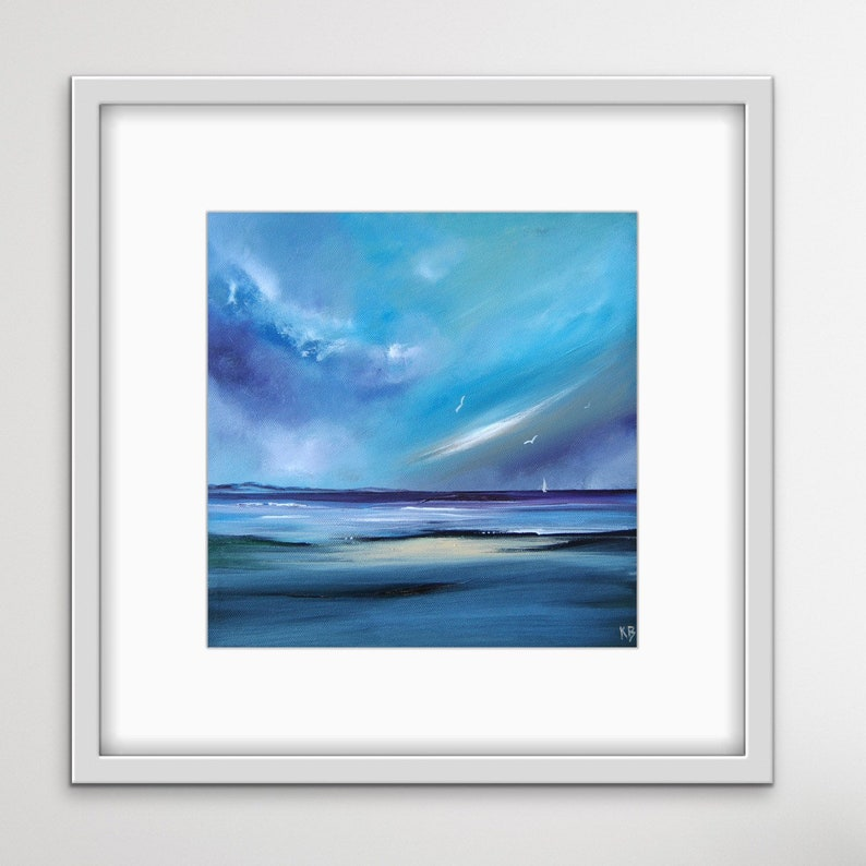 Storm Sea Storm Print Scottish Seascape Sea Storm Painting image 0