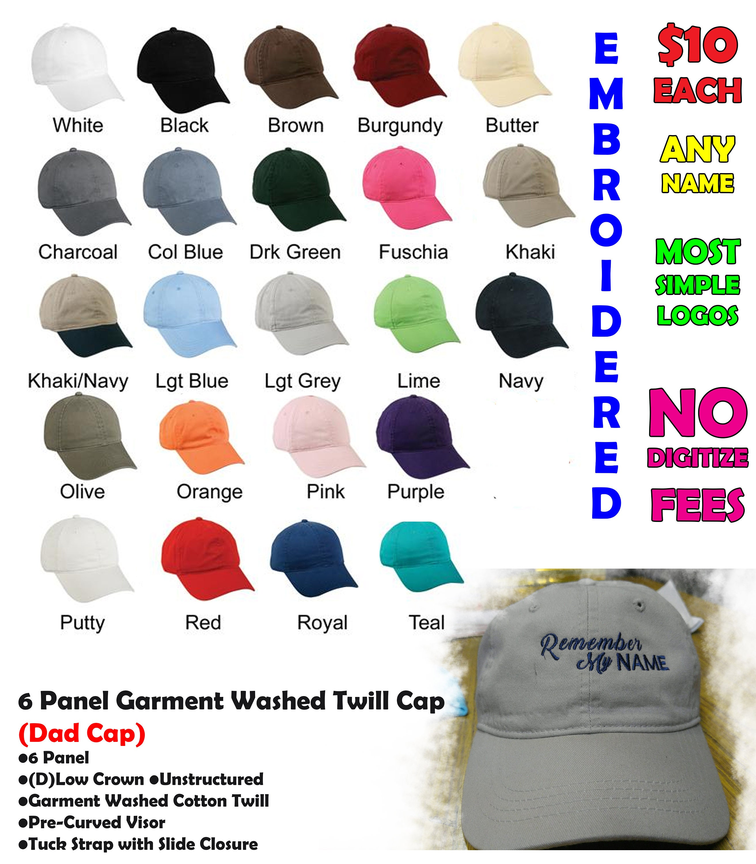 2f88fd91 Personalized Custom Dad Hat Embroidered Personalized Dad Cap   Etsy