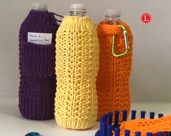 3 PDF Patterns included;Wine glass lanyard Loom Knit Wine Themed Pattern Collection Wine Bottle ToteCarrier and Nautical Wine Bottle Cozy