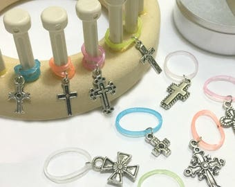 Loom Knitting Pattern 13 Stitch Markers - Snag Free Snug Fit - Specially Designed for Looms  - Show of Faith