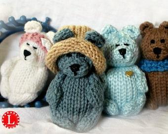 Loom Knitting PATTERNS Toys Doll Amigurumi Tiny Dolls | Teddy Bear - Includes Video Tutorial by Loomahat