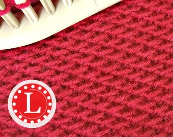 Loom Knitting PATTERNS : The Chinese Wave Stitch with Video Tutorial  | LoomaHat